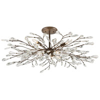 Crislett 6 Light 41 inch Sunglow Bronze Semi Flush Mount Ceiling Light