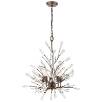 ELK 18257/5 Crislett 5 Light 25 inch Sunglow Bronze Chandelier Ceiling Light