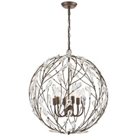 ELK 18258/6 Crislett 6 Light 25 inch Sunglow Bronze Chandelier Ceiling Light