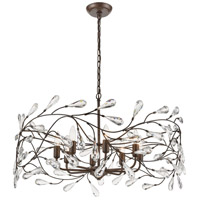 ELK 18260/8 Crislett 8 Light 31 inch Sunglow Bronze Chandelier Ceiling Light