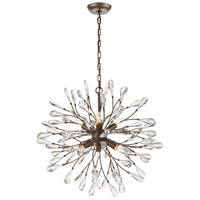 Crislett 6 Light 25 inch Sunglow Bronze Chandelier Ceiling Light