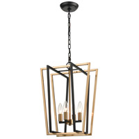 ELK 18356/4 Bridgette 14 inch Matte Black/Satin Brass Pendant Ceiling Light