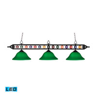 ELK Lighting Designer Classics 3 Light Billiard/Island in Matte Black 190-1-BK-G10GR-LED