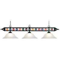 ELK Lighting Designer Classics 3 Light Billiard/Island in Matte Black 190-1-BK-G1