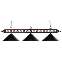 Designer Classics 3 Light 58 inch Matte Black Billiard/Island Ceiling Light in Standard
