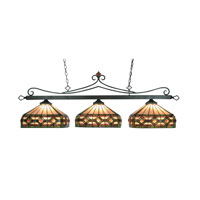 ELK Lighting Tiffany 3 Light Billiard/Island in Tiffany Bronze 190-11-TB-T8 photo thumbnail