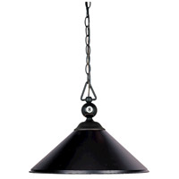 Designer Classics 3 Light 16 inch Matte Black Billiard/Island Ceiling Light