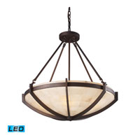 Spanish Mosaic LED 26 inch Aged Bronze Pendant Ceiling Light