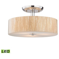 Modern Organics LED 14 inch Polished Chrome Semi Flush Mount Ceiling Light