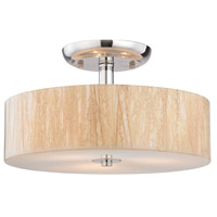 ELK 19038/3 Modern Organics 3 Light 14 inch Polished Chrome Semi Flush Mount Ceiling Light in Incandescent