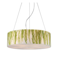 MODERN ORGANICS 5 Light 24 inch Polished Chrome Pendant Ceiling Light