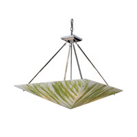MODERN ORGANICS 4 Light 24 inch Polished Chrome Pendant Ceiling Light