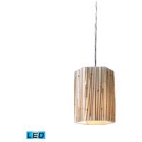 ELK Lighting Modern Organics 1 Light Pendant in Polished Chrome 19061/1-LED photo thumbnail
