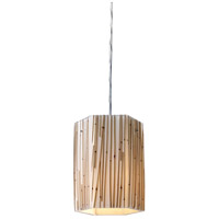 Modern Organics 1 Light 6 inch Polished Chrome Pendant Ceiling Light in Incandescent, Standard
