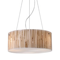 Modern Organics 3 Light 16 inch Polished Chrome Pendant Ceiling Light