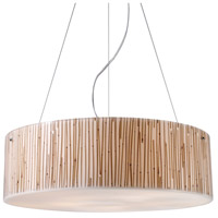 Modern Organics 5 Light 24 inch Polished Chrome Pendant Ceiling Light in Standard