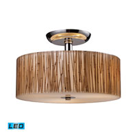 Modern Organics LED 14 inch Polished Chrome Semi-Flush Mount Ceiling Light