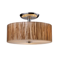Modern Organics 3 Light 14 inch Polished Chrome Semi-Flush Mount Ceiling Light in Standard