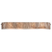 Modern Organics 4 Light 41 inch Polished Chrome Vanity Wall Light in Standard