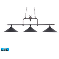Designer Classics LED 63 inch Tiffany Bronze Billiard/Island Ceiling Light
