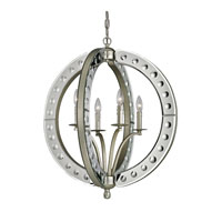 ELK Lighting Mariana 4 Light Pendant in Speckled Silver 19100/4