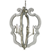 ELK Lighting Mariana 4 Light Pendant in Speckled Silver 19102/4