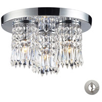ELK Lighting Optix 3 Light Flush Mount in Polished Chrome 1990/3-LA