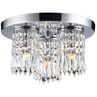 Optix 3 Light 12 inch Polished Chrome Flush Mount Ceiling Light in Standard