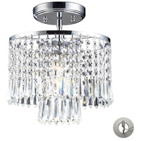 ELK Lighting Optix 1 Light Semi-Flush Mount in Polished Chrome 1991/1-LA