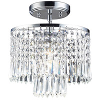 Optix 1 Light 10 inch Polished Chrome Semi-Flush Mount Ceiling Light in Standard