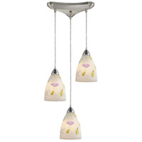 Seashore 3 Light 10 inch Nickel Pendant Ceiling Light