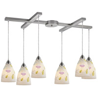 Seashore 6 Light 33 inch Nickel Pendant Ceiling Light
