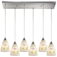 Seashore 6 Light 30 inch Satin Nickel Pendant Ceiling Light