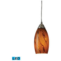 ELK 20001/1BG-LED Galaxy LED 5 inch Satin Nickel Mini Pendant Ceiling Light in Brown, 1, Standard