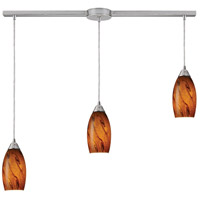 ELK 20001/3L-BG-LED Galaxy LED 10 inch Satin Nickel Pendant Ceiling Light