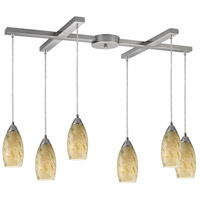 Galaxy 6 Light 33 inch Satin Nickel Pendant Ceiling Light