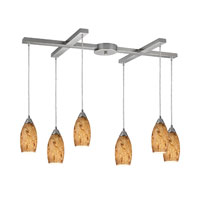 ELK Lighting Galaxy 6 Light Pendant in Nickel Finish 20001/6MG