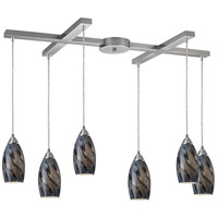 ELK Lighting Galaxy 6 Light Pendant in Nickel Finish 20001/6SG