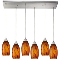 ELK Lighting Galaxy 6 Light Pendant in Satin Nickel 20001/6RC-BG
