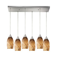 Galaxy 6 Light 30 inch Satin Nickel Pendant Ceiling Light