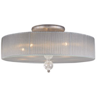 Alexis 5 Light 23 inch Antique Silver Semi-Flush Mount Ceiling Light