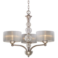 Alexis 3 Light 25 inch Antique Silver Chandelier Ceiling Light