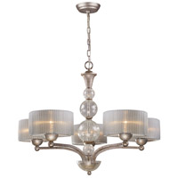 Alexis 5 Light 32 inch Antique Silver Chandelier Ceiling Light