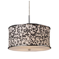FABRIQUE 3 Light 17 inch Polished Chrome Pendant Ceiling Light
