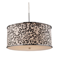 FABRIQUE 5 Light 21 inch Polished Chrome Pendant Ceiling Light