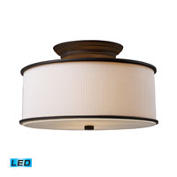 Lureau LED 15 inch Oiled Bronze Semi-Flush Mount Ceiling Light