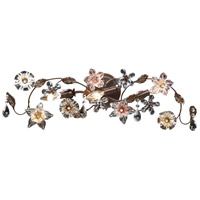 ELK 20075/3 Cristallo Fiore 3 Light 30 inch Deep Rust Vanity Wall Light