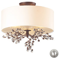 Winterberry 3 Light 16 inch Antique Darkwood Semi-Flush Mount Ceiling Light in Recessed Adapter Kit