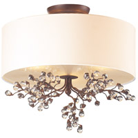 Winterberry 3 Light 16 inch Antique Darkwood Semi-Flush Mount Ceiling Light in Standard