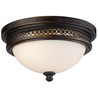 Signature 2 Light 13 inch Deep Rust Flush Mount Ceiling Light in Standard